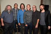 (L-R) Actors Mark Boone Junior, Charlie Hunnam, Kim Coates, Theo Rossi, Dayton Callie and Niko Nicotera attend Cast of FX's 'Sons of Anarchy' Host 'Boot Bash' benefiting The Boot Campaign at The Bunker Lofts on August 2, 2014 in Los Angeles, California.