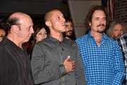 (L-R) Actors Dayton Callie, Theo Rossi and Kim Coates attend Cast of FX's 'Sons of Anarchy' Host 'Boot Bash' benefiting The Boot Campaign at The Bunker Lofts on August 2, 2014 in Los Angeles, California.