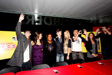 """Jenna Ushkowitz Chris Colfer The Cast Of """"Glee"""" Signs Copies Of """"Glee: The Music Vol. 1"""" In Manhattan"""