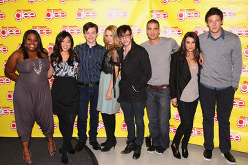 """Jenna Ushkowitz Chris Colfer The Cast Of """"Glee"""" Signs Copies Of """"Glee: The Music Vol. 1"""" In New Jersey"""