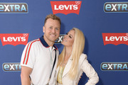 """Spencer Pratt and Heidi Montag visit """"Extra"""" at The Levi's Store Times Square on June 11, 2019 in New York City."""