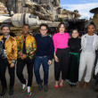 Daisy Ridley and director J.J. Abrams Photos