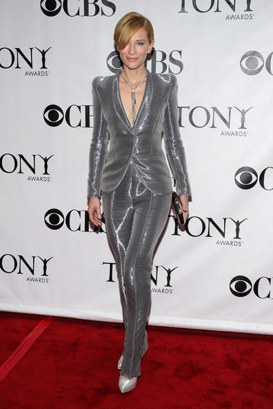 64th Annual Tony Awards - Arrivals [clothing,suit,carpet,red carpet,pantsuit,fashion,formal wear,premiere,shoulder,footwear,arrivals,cate blanchett,tony awards,new york city,radio city music hall,64th annual tony awards]