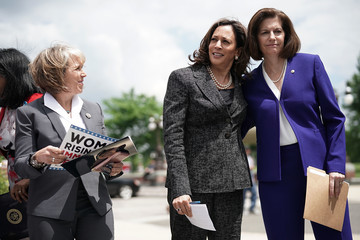 Catherine Cortez Masto Sen. Kamala Harris Holds News Conference To Support Immigration And Refugee Policies That Protect Rights Of Women And Children