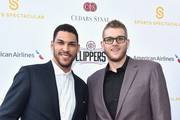 NBA players Jeff Ayres and Cole Aldrich attend the Cedars-Sinai Sports Spectacular at W Los Angeles – West Beverly Hills on March 25, 2016 in Los Angeles, California.