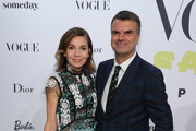 """Nadine Warmuth and Andre Pollmann at the """"Celebrate 40 years – Best of Vogue Salon"""" during the Berlin Fashion Week Spring/Summer 2020 at KaDeWe on July 05, 2019 in Berlin, Germany."""