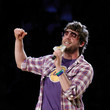 Elliott Yamin Celebrities At The Lakers Game