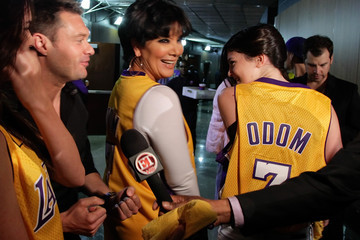Kris Jenner Kylie Jenner Celebrities At The Lakers Game