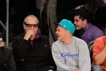 Raymond Nicholson Celebrities At The Lakers Game