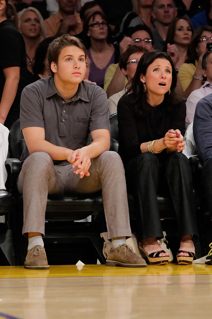 Julia Louis-Dreyfus in Celebrities At The Lakers Game - Zimbio