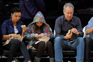 Patty Smith Celebrities At The Lakers Game