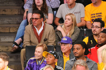 Daniella Garcia Celebrities At The Lakers Game