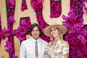 Nacho Figueras and Delfina Blaquier attend the Moet Marquee Magic Millions Raceday at the Gold Coast Turf Club on January 11, 2020 in Gold Coast, Australia.