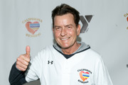"Charlie Sheen attends a charity softball game to benefit ""California Strong"" at Pepperdine University on January 13, 2019 in Malibu, California."