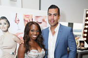 Delaina Dixon and J.W. Cortes attend the HBO Latino: El Negocio Private Dinner on July 7, 2015 in New York City.