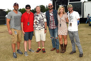 Jay Barker / co-owner of Rock The South, Shane Quick / Premier Productions, Gary Gentry /  Premier Productions, Singer/Songwriter Corey Smith, Laura Kate Lindsey / Pepsi Buffalo Rock, Noah Galloway US Army retired/Dancing with the Stars Season 20 backstage during The 4th Annual Pepsi's Rock The South Festival - Day 2  at Heritage Park in Cullman, Alabama.