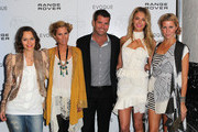 (L-R) Media personailty Mia Freedman, designer Sarah-Jane Clarke chef Peter Evans, model Jennifer Hawkins and designer Heidi Middleton pose as they attend the launch of the Range Rover Evoque on June 29, 2011 in Melbourne, Australia.