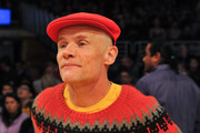 Musician Flea attends a basketball game between the Los Angeles Lakers and the Minnesota Timberwolves at Staples Center on December 25, 2017 in Los Angeles, California.