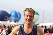 James Cracknell poses for a photo ahead of participating in The Virgin London Marathon on April 23, 2017 in London, England.