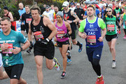 James Cracknell and Kelly Holmes start the Virgin London Marathon 2016 on April 24, 2016 in London, England.