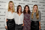 (L-R) Poppy Delevigne, Ursula Corbero, Atlanta de Cadenet and Harley Viera-Newton pose during a photocall for 'The Event Paper' party by Stradivarius on October 8, 2014 in Barcelona, Spain.