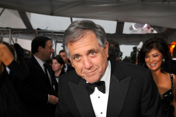 Leslie Moonves Celebrities Sign Charity Car At 67th Annual Golden Globe Awards