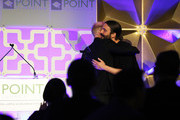 Gus Kenworthy and Jonathan Van Ness speaks onstage during Celebrities Support LGBTQ Education at Point Honors Gala New York at The Plaza Hotel on April 08, 2019 in New York City.