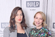 """(L-R) Lola Kirke and Amy Ryan visit Build to discuss the film """"Lost Girls"""" at Build Studio on March 02, 2020 in New York City."""