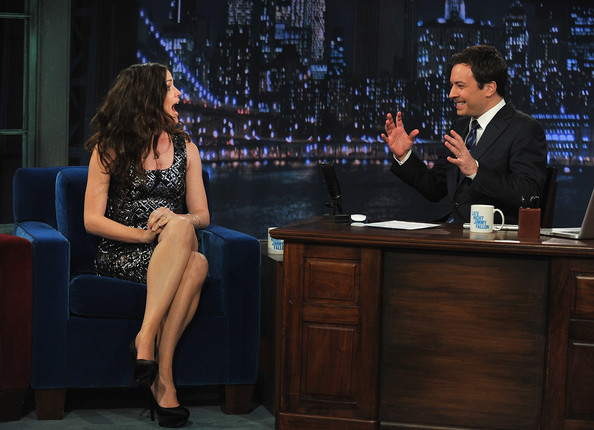 "Actress Jennifer Garner visits ""Late Night with Jimmy Fallon"" at Rockefeller Center on April 6, 2011 in New York City."