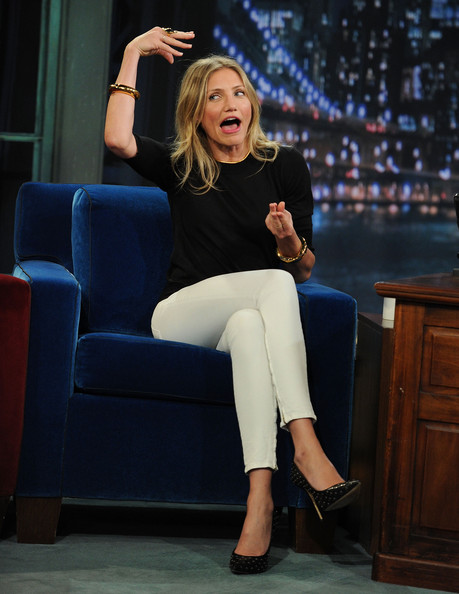 "Actress Cameron Diaz visits ""Late Night With Jimmy Fallon"" at Rockefeller Center on June 21, 2011 in New York City."