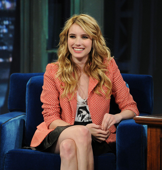 "Actress Emma Roberts visits ""Late Night With Jimmy Fallon"" at Rockefeller Center on June 10, 2011 in New York City."