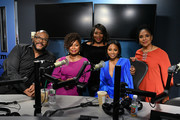 (EXCLUSIVE COVERAGE) (L-R) Tyler Perry, Crystal R. Fox, Bevy Smith, Bresha Webb, and Phylicia Rashad at SiriusXM Studios on January 13, 2020 in New York City.