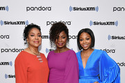 (EXCLUSIVE COVERAGE) (L-R) Phylicia Rashad, Crystal R. Fox, and Bresha Webb visit SiriusXM Studios on January 13, 2020 in New York City.