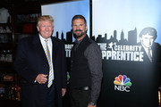 """Donald Trump (L) and Lorenzo Lamas attend """"Celebrity Apprentice"""" Red Carpet Event at Trump Tower on January 20, 2015 in New York City."""