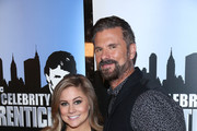 """Lorenzo Lamas (R) and Shawn Johnson attend """"Celebrity Apprentice"""" Red Carpet Event at Trump Tower on January 20, 2015 in New York City."""