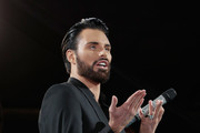 Host Rylan Clark during the Celebrity Big Brother Live  Eviction at Elstree Studios on January 12, 2018 in Borehamwood, England.