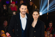 Rylan Clark and Emma Willis at the 2nd celebrity eviction from the Big Brother house at Elstree Studios on January 15, 2016 in Borehamwood, England.