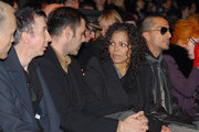 Marc Almond (L) and Janet Jackson attends the Todd Lynn show during London Fashion Week on February 21, 2010 in London, England.