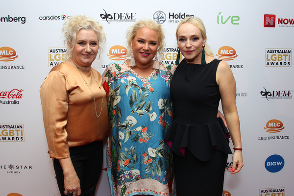 2019 Australian LGBTI Awards - Media Room [red,yellow,carpet,fashion,event,red carpet,award,premiere,flooring,dress,susie porter,yvie jones,celia ireland,awards,lgbti,lgbti awards,australian,room,sydney,the star]