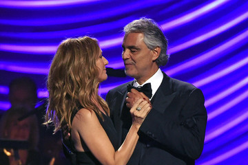 Celine Dion Andrea Bocelli Keep Memory Alive's 19th Annual 'Power of Love' Gala Honors Andrea & Veronica Bocelli - Inside