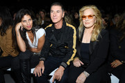 (L-R) Maiwenn Le Besco, Etienne Daho and Sylvie Vartan attend the Celine Womenswear Spring/Summer 2020 show as part of Paris Fashion Week on September 27, 2019 in Paris, France.