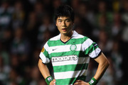Sung Yeung Ki of Celtic reacts at the end of the Europa League Group I match between Celtic and Udinese at Celtic Park on September 29, 2011 in Glasgow, United Kingdom.