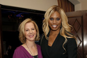 (L-R) Center for Reproductive Rights President Nancy Northup and Laverne Cox attend The Center for Reproductive Rights 2020 Los Angeles Benefit on February 27, 2020 in Beverly Hills, California.
