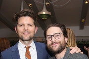 Adam Scott (L) and Charlie Day attend The Center for Reproductive Rights Inaugural Los Angeles Benefit at The London West Hollywood on March 6, 2019 in West Hollywood, California.