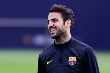 Cesc Fabregas FC Barcelona Training Session
