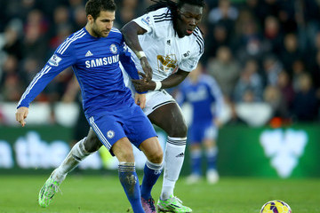 Cesc Fabregas Swansea City v Chelsea - Premier League