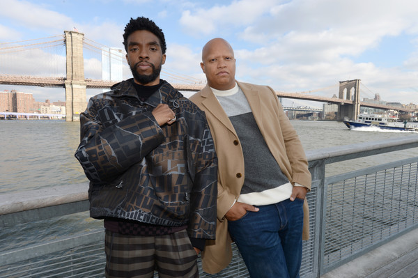 Chadwick Boseman And The Cast of '21 Bridges' In NYC