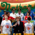 Joey Chestnut in Champions Compete In Nathan's Annual Hot Dog Eating Contest