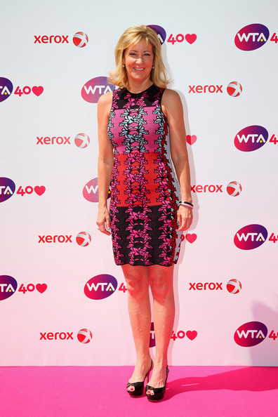 Chris Evert arrives for the WTA 40 Love Celebration during Middle Sunday of the Wimbledon Lawn Tennis Championships at the All England Lawn Tennis and Croquet Club on June 30, 2013 in London, England.