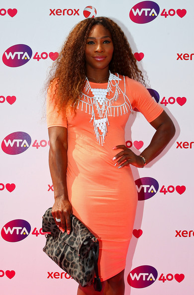 Serena Williams arrives for the WTA 40 Love Celebration during Middle Sunday of the Wimbledon Lawn Tennis Championships at the All England Lawn Tennis and Croquet Club on June 30, 2013 in London, England.